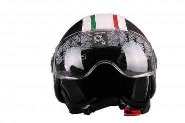 Jet helmet Vito Roma leather black
