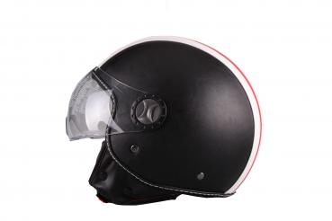 Jet helmet Vito Roma leather black L