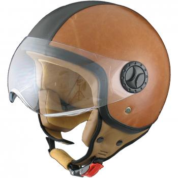 Jet helmet Vito Amsterdam leather brown XL