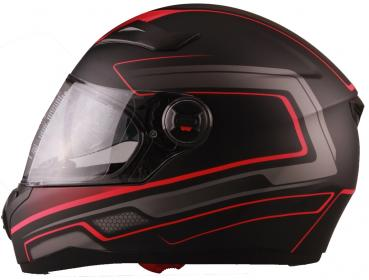 Integral helmet Vito Falcone black red