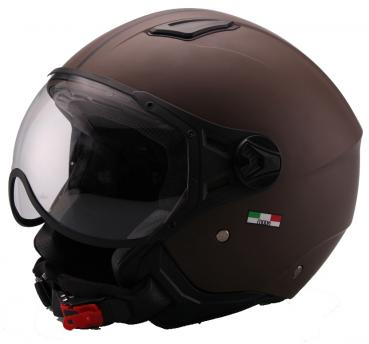 Jet Helm Vito Moda matt brown