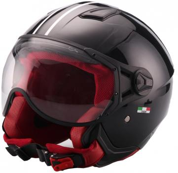 Jet Helm Vito Moda gloss black