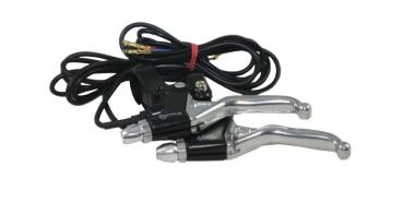 Brake lever set with electrical break contact