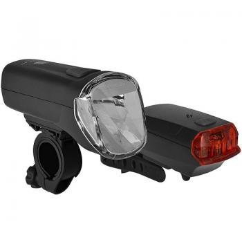 Trio Lux Pro battery light set front light & rear light