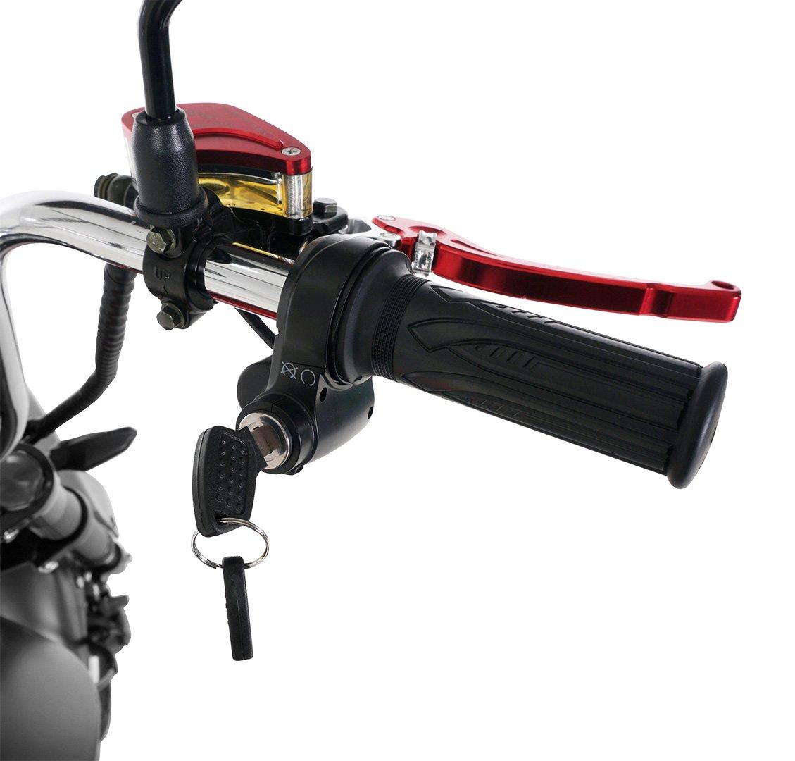 Bis zu 45 km//h eFlux Chopper One Elektroroller Scooter 2000 Watt Motor Stra/ßenzulassung E-Scooter