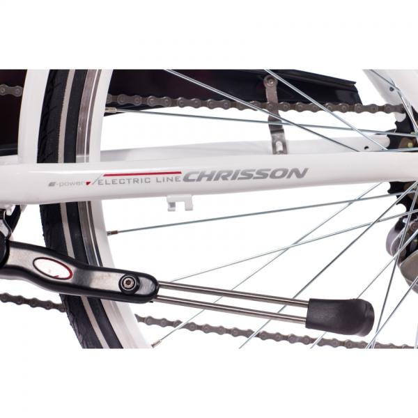 "CHRISSON E-E-LADY 28"" HUB GEAR WHITE MATT - Kopie"